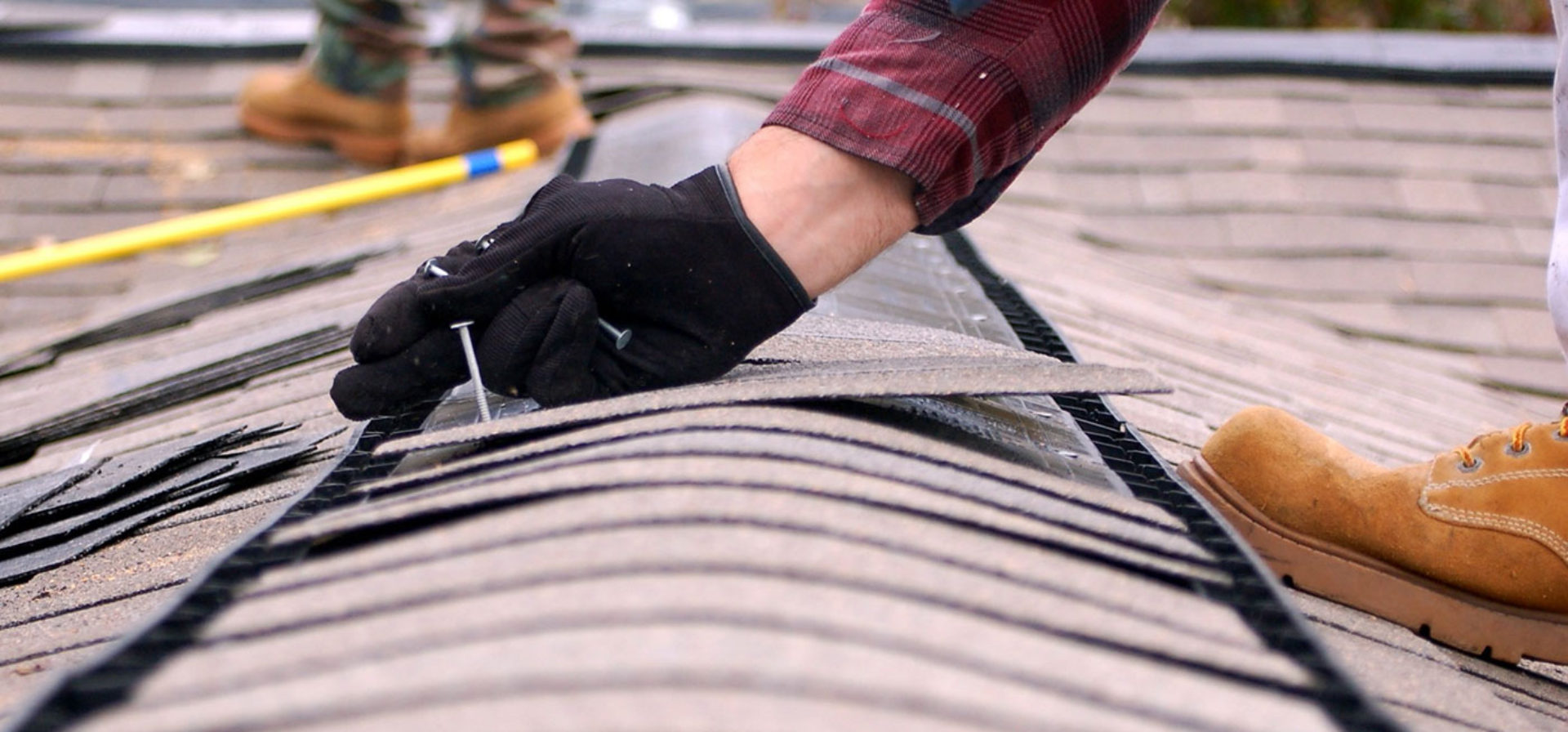 Cleaning The Roof With Black Stains And Streaks